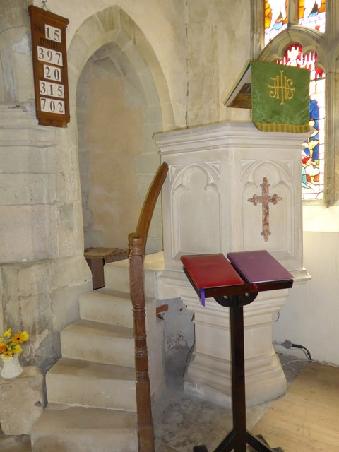 St Olave, Gatcombe: pulpit