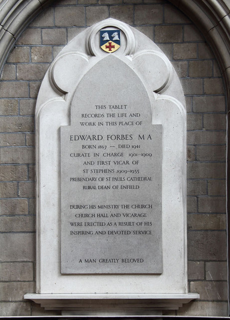 St Stephen, Bush Hill Park - Wall monument