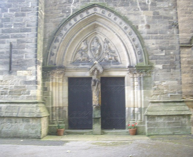 West Door, St Cuthbert's Church