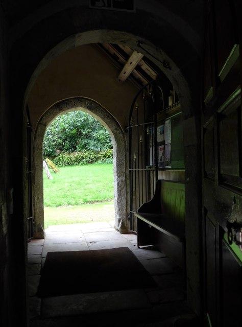 St Olave, Gatcombe: south door