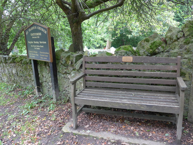 Seat outside Gatcombe Churchyard