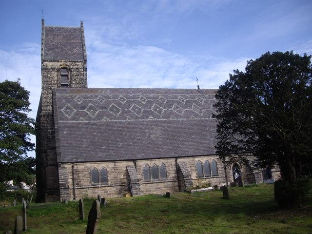 Southern aspect of St Cuthbert's Church