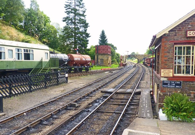 Goathland Station Looking towards Pickering