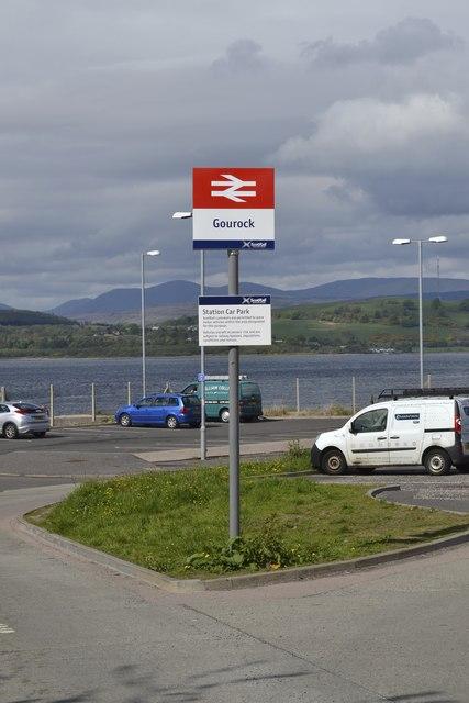 Gourock Railway Station Sign, Pierhead, Gourock, Inverclyde