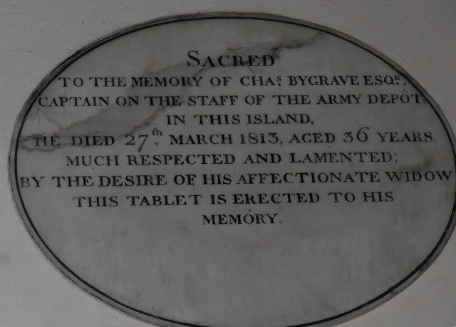 St Olave, Gatcombe:  memorial (I)