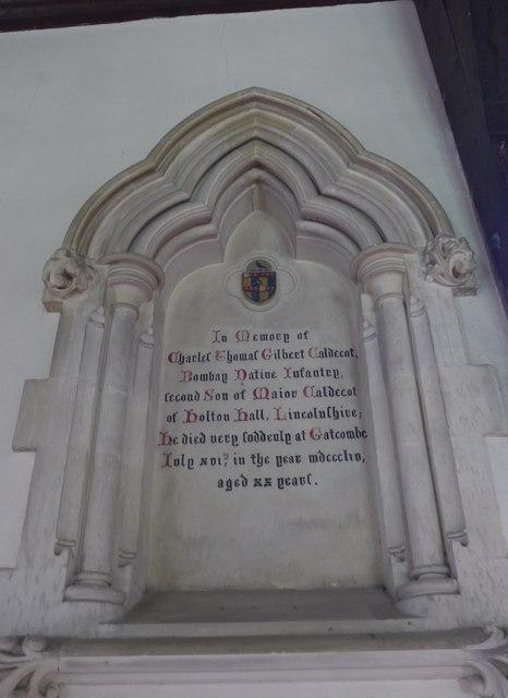 St Olave, Gatcombe: memorial (XI)