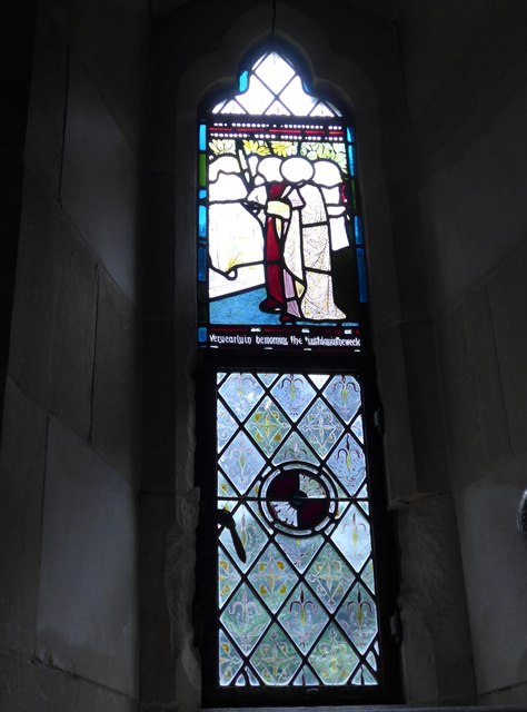 St Olave, Gatcombe: stained glass window (i)