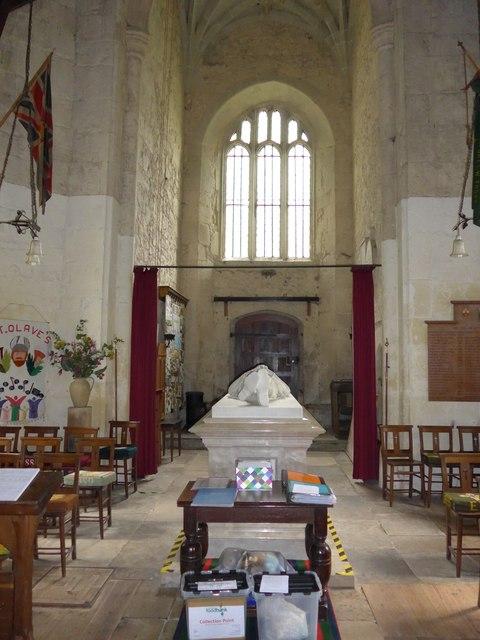 Inside St Olave, Gatcombe (F)