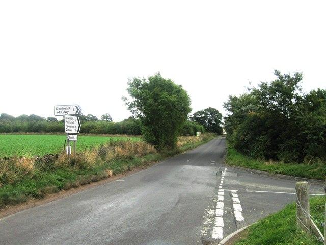 Road junction near Liff