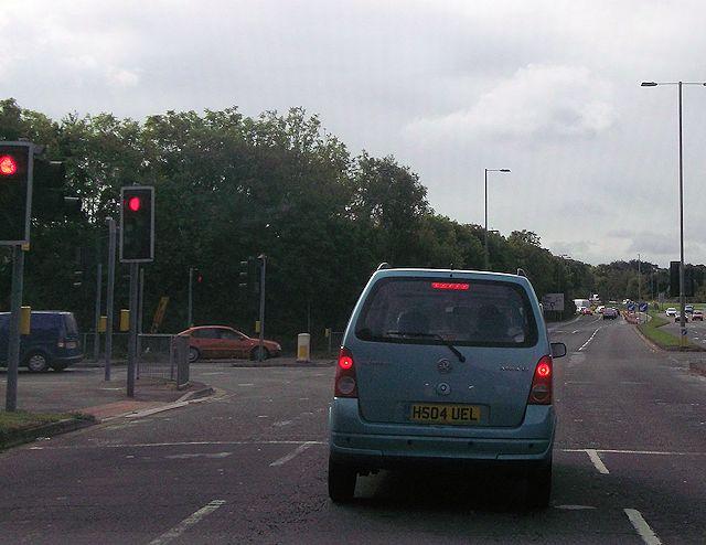 Road junction for Waterlooville Industrial Estate