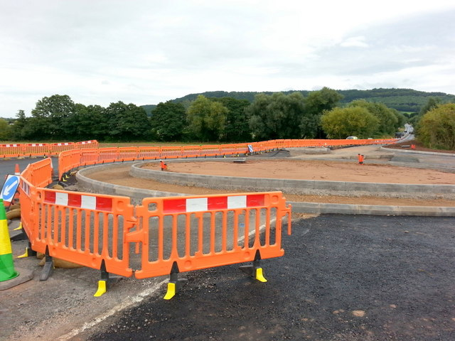 New roundabout on the A40 Ross bypass, 1