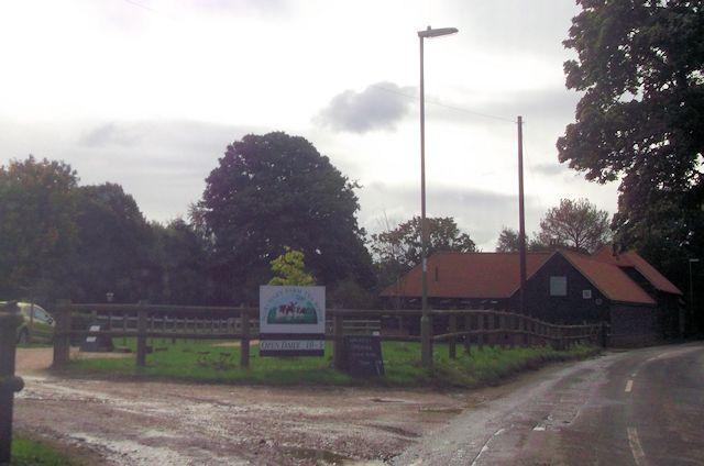 Northney Farm tea rooms entrance