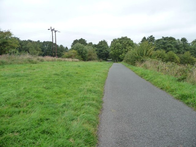 Cycle route along former railway line