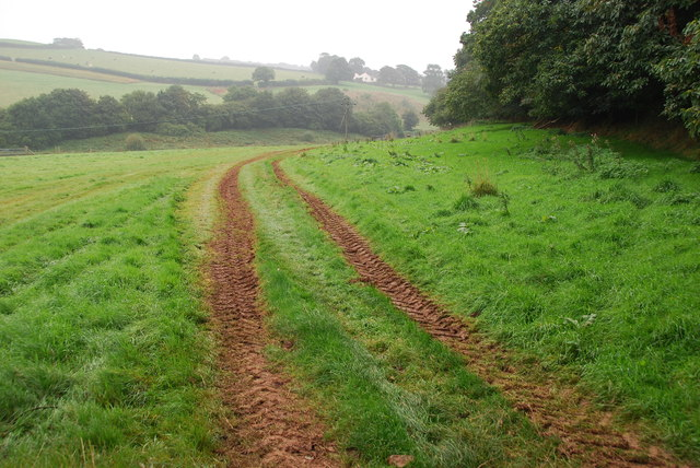 Track from Lower Little Modbury Farmhouse