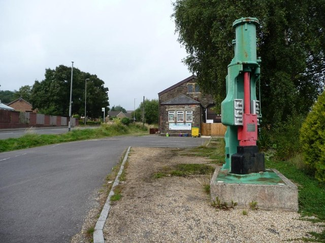 Steam hammer outside former railway goods shed