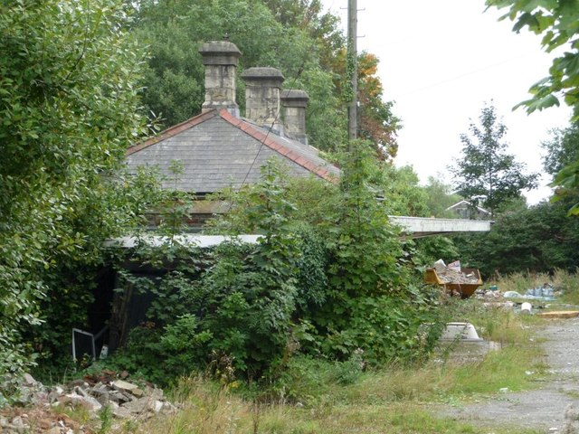 Former Griffithstown railway station, from the road