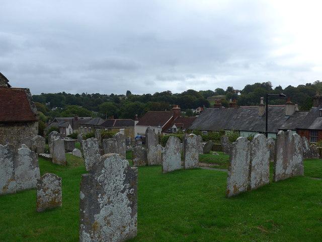 St Mary, Carisbrooke: churchyard (b)