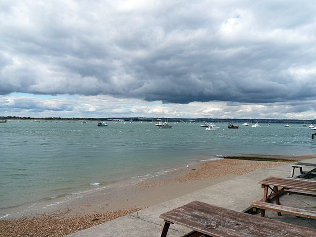 North into Langstone Harbour from Ferryboat Inn