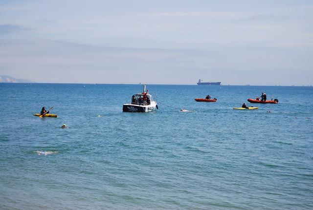 Open water swimmers, Weymouth