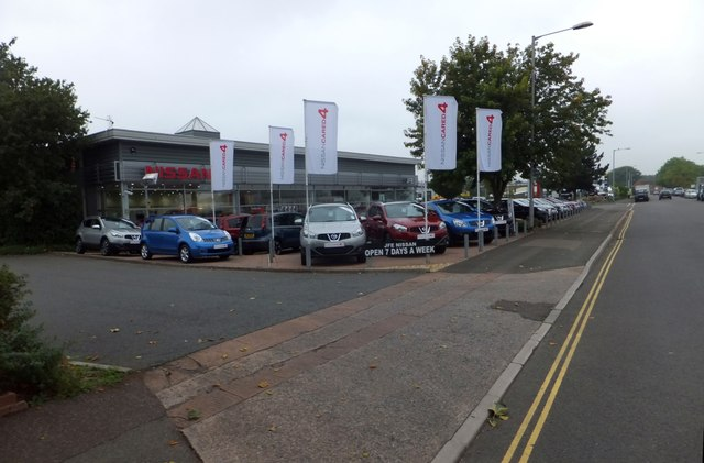 Nissan car showroom, Grace Road West, Exeter