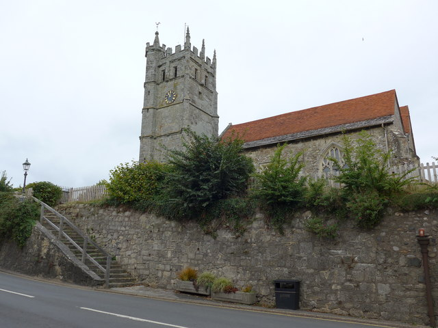 St Mary, Carisbrooke: as seen from the High Street