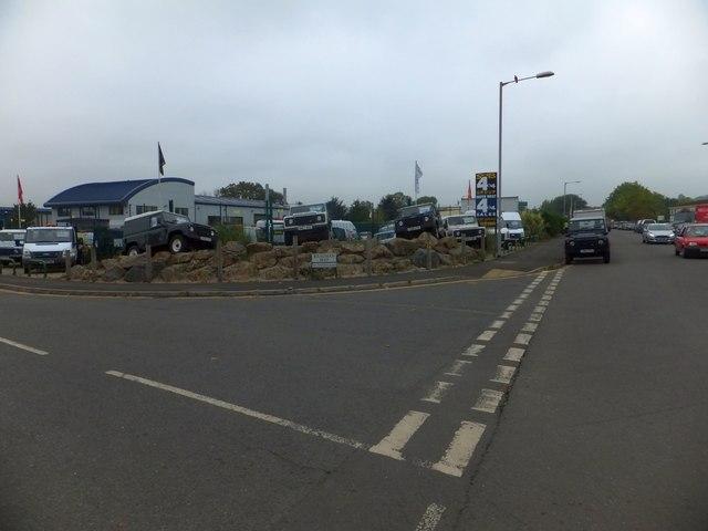 Four-wheel drive vehicle dealer, Grace Road West, Exeter
