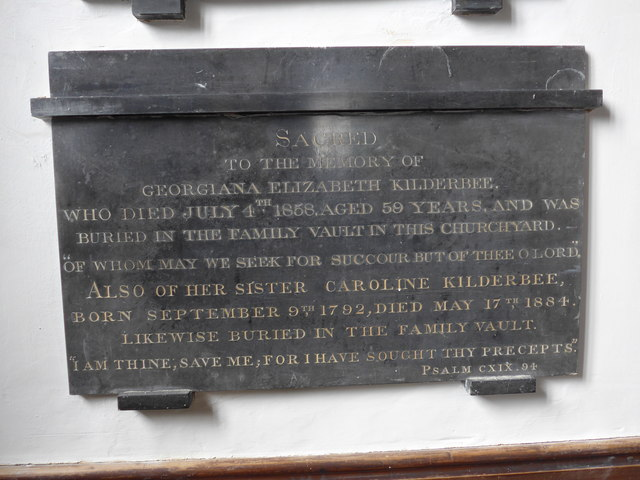 St Mary, Carisbrooke: memorial  (II)