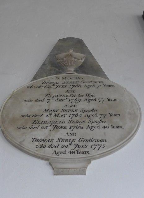 St Mary, Carisbrooke: memorial  (III)