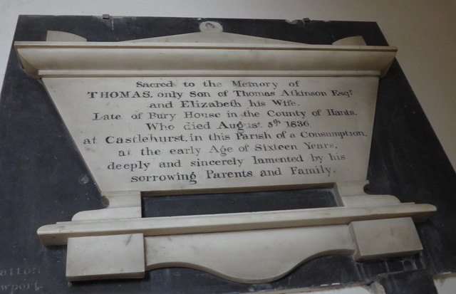 St Mary, Carisbrooke: memorial  (V)