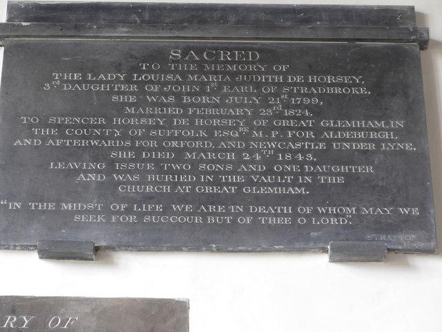 St Mary, Carisbrooke: memorial  (VI)