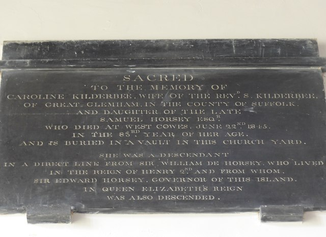 St Mary, Carisbrooke: memorial  (VIII)