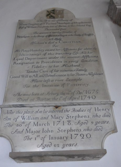St Mary, Carisbrooke: memorial  (IX)