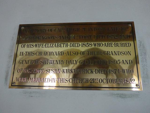 St Mary, Carisbrooke: memorial  (XI)