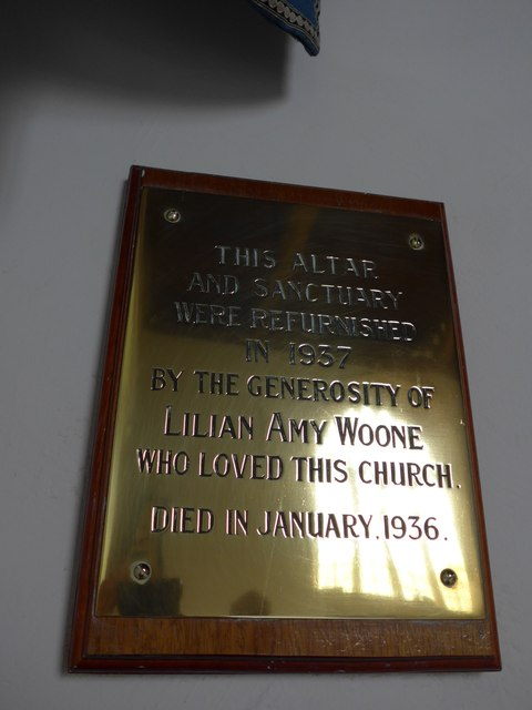 St Mary, Carisbrooke: memorial  (XII)