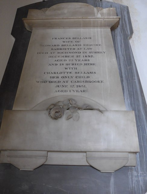 St Mary, Carisbrooke: memorial  (XVI)