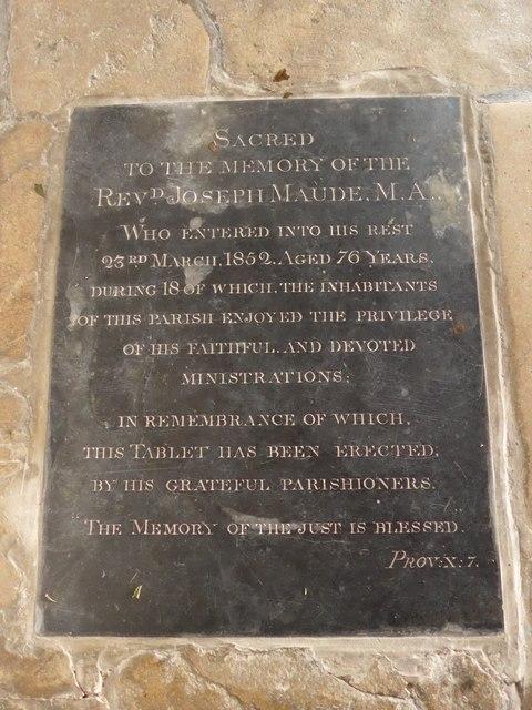 St Mary, Carisbrooke: memorial (XX)