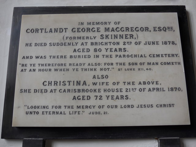 St Mary, Carisbrooke: memorial (XIV)