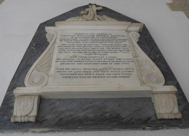St Mary, Carisbrooke: memorial (XXII)