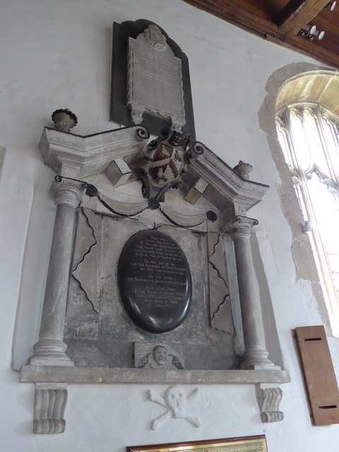 St Mary, Carisbrooke: memorial (XXV)