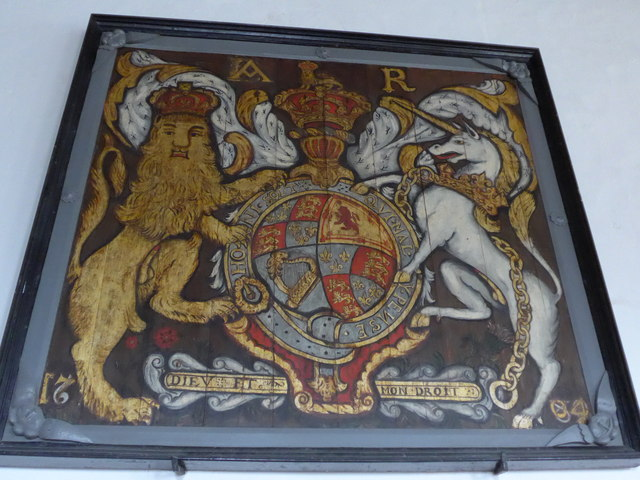 St Mary, Carisbrooke: coat of arms