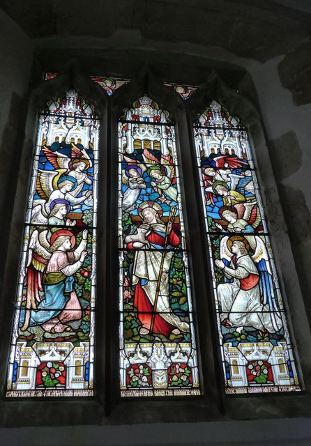 St Mary, Carisbrooke: stained glass window (A)