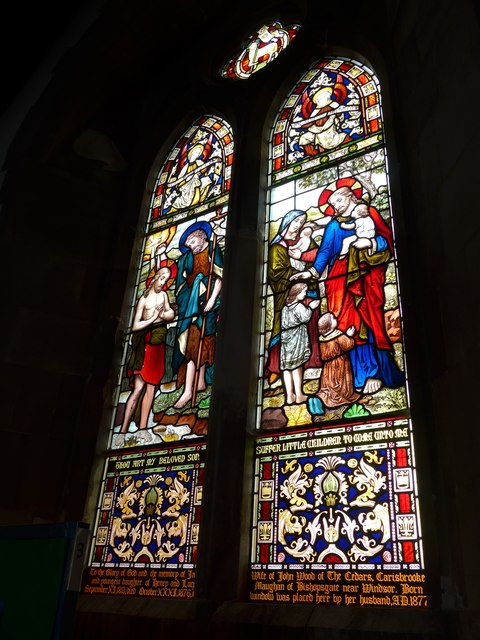 St Mary, Carisbrooke: stained glass window (B)