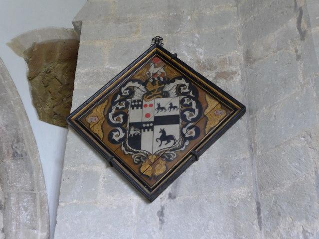 St Mary, Carisbrooke: hatchment (A)