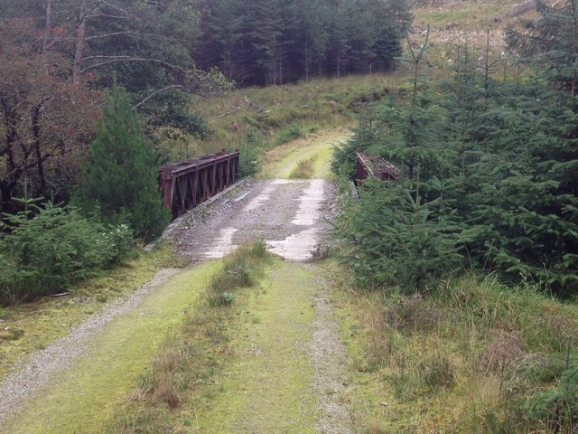 Forestry bridge over Allt Coire nan Con