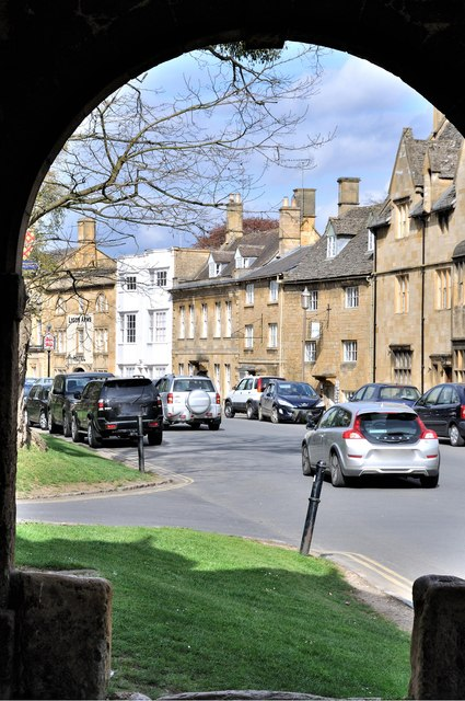 Looking out onto the High Street - Chipping Campden