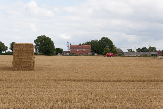 Field, with Denmead Farm beyond