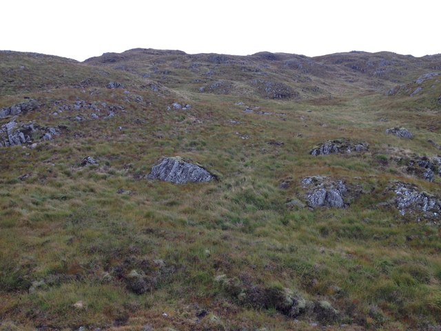 Moorland above Glenhurich Forest