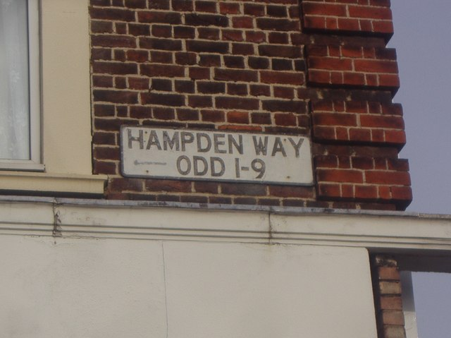 Road sign for Hampden Way