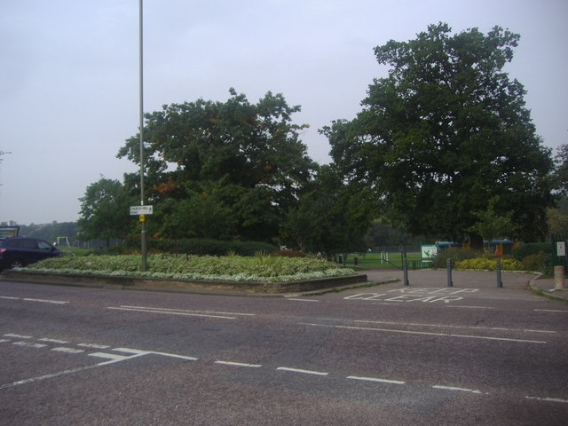 The entrance to Oak Hill Park on Church Hill Road