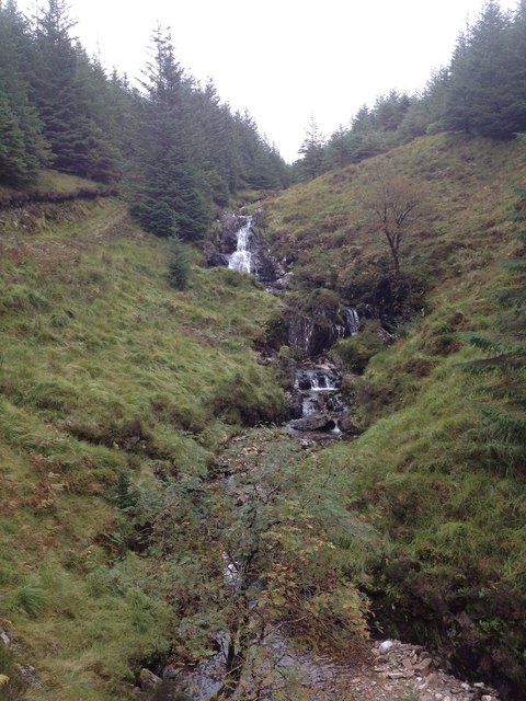 Waterfall on Allt Coire nan Con